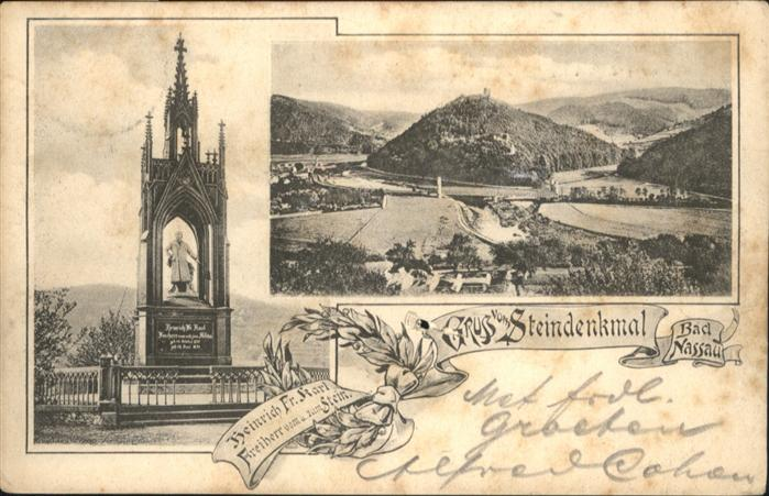Nassau Lahn Steindenkmal Freiherr vom und zum Stein x