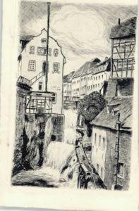 we38824 Saarburg Saar Saarburg Wasserfall Muehlen * Kategorie. Saarburg Alte Ansichtskarten