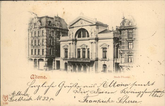 hamburg theater nr 186984 oldthing ansichtskarten deutschland plz 20 29. Black Bedroom Furniture Sets. Home Design Ideas