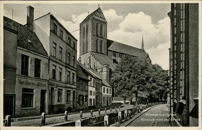 Wismar Mecklenburg Vorpommern Nikolaikirche Grube / Wismar /Wismar Stadtkreis