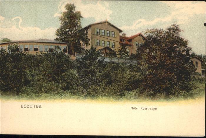 Thale Harz Bodethal Hotel Rosstrappe / Thale /Harz LKR