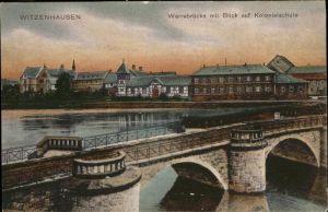 Witzenhausen Werrabruecke Kolonialschule  Kat. Witzenhausen