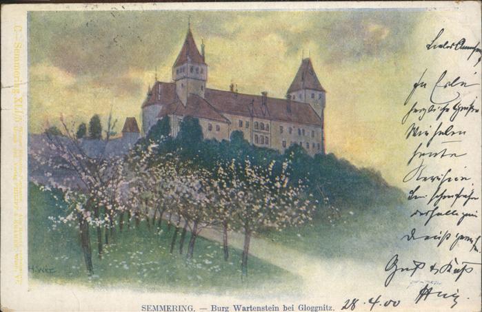 Semmering Burg Wartenstein Gloggnitz Kat. Semmering