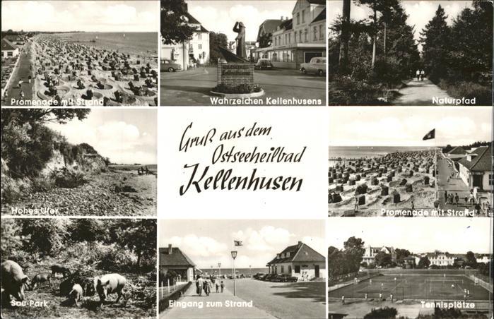 Kellenhusen Ostsee Wahrzeichen strand Tennisplaetze Kat. Kellenhusen (Ostsee)