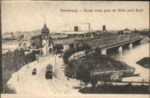 Strasbourg Alsace Strasbourg Route Pont Rhin  Strassenbahn * / Strasbourg /Arrond. de Strasbourg-Ville