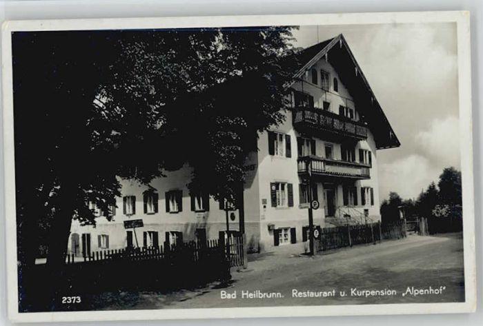 Bad Heilbrunn Bad Heilbrunn Restaurant Alpenhof X 1941 Bad Heilbrunn Bad Toelz Wolfratshausen Lkr Nr Wd74687 Oldthing Ansichtskarten Bayern