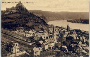 Braubach Rhein Braubach Marksburg * / Braubach /Rhein-Lahn-Kreis LKR