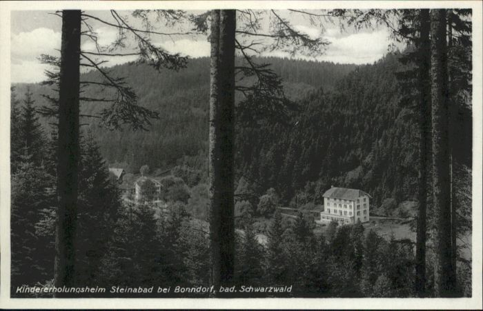 Bonndorf Schwarzwald Bonndorf Kindererholungsheim Steinabad * / Bonndorf /Waldshut LKR