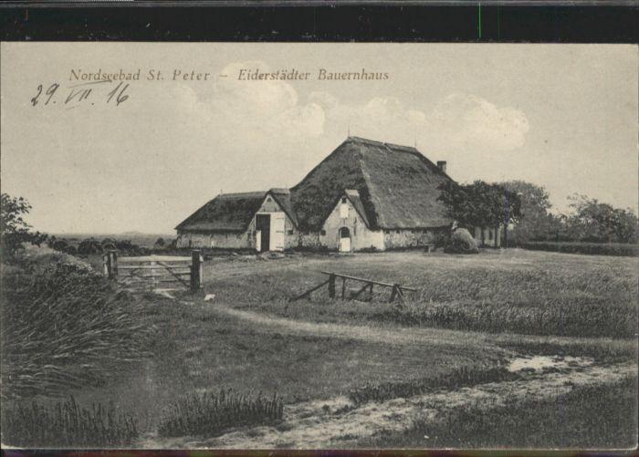 St Peter-Ording St Peter-Ording Eiderstaedter Bauernhaus x / Sankt Peter-Ording /Nordfriesland LKR