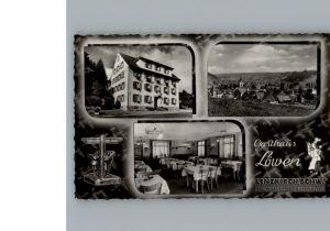 Lenzkirch Gasthaus Loewen / Lenzkirch /Breisgau-Hochschwarzwald LKR