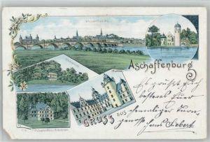 Aschaffenburg Main Aschaffenburg Schoenbusch Schloss Rohrbrunn x / Aschaffenburg /Aschaffenburg LKR