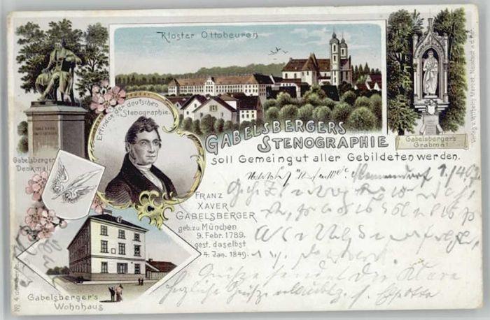 we19606 Ottobeuren Ottobeuren Franz Xaver Gabelsberger Feldpost x Kategorie. Ottobeuren Alte Ansichtskarten
