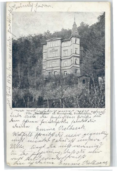 Friedrichroda Friedrichroda Villa Backhaus Herzogsweg x / Friedrichroda /Gotha LKR