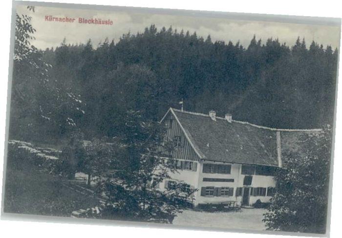 Kempten [Verlag Albert Klein] Kuernacher Blockhaeusle *