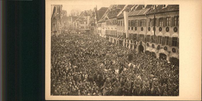 Kaufbeuren Einzug in Kaufbeuren 1918 / Kaufbeuren /Kaufbeuren Stadtkreis