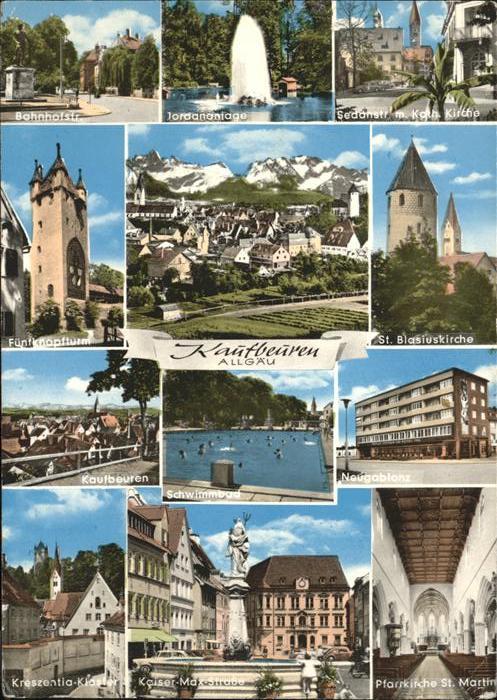 Kaufbeuren St. Blasiuskirche Schwimmbad Jordananlage Kloster / Kaufbeuren /Kaufbeuren Stadtkreis