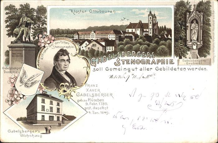 Ottobeuren Kloster Gabelsberger Wohnhaus