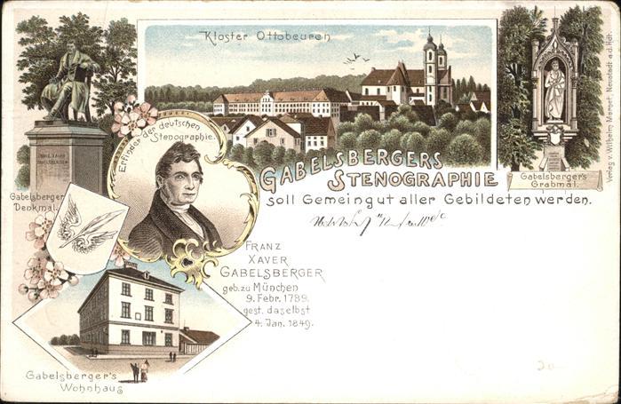 Ottobeuren Gabelsberger Denkmal  Wohnhaus