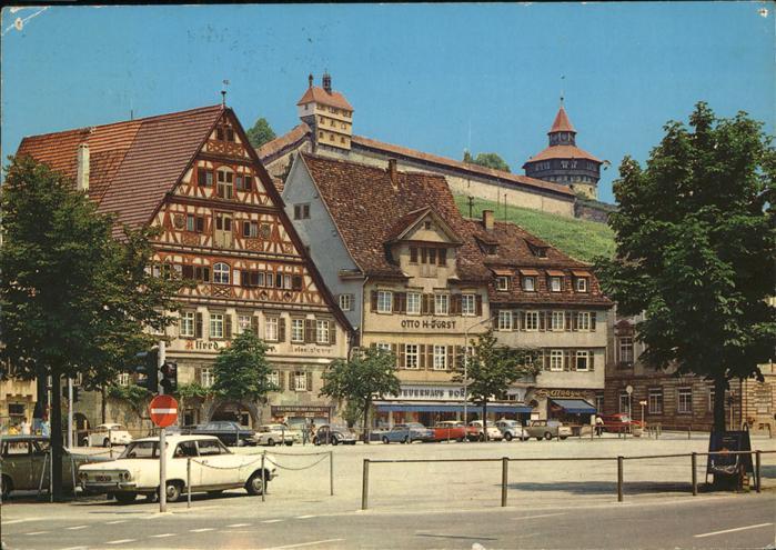 Esslingen Neckar Marktplatz Burg Autos Kat. Esslingen am Neckar