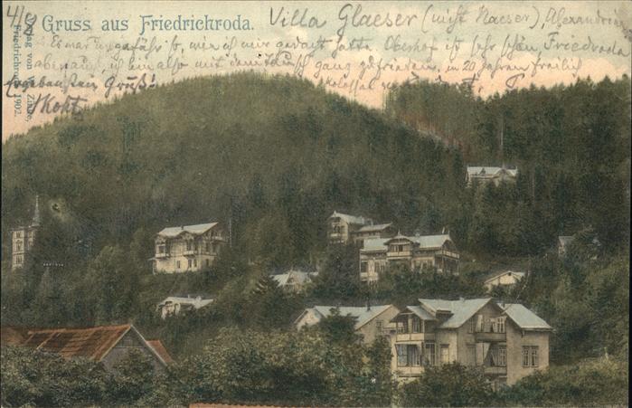 Friedrichroda Villa Glaeser Kat. Friedrichroda