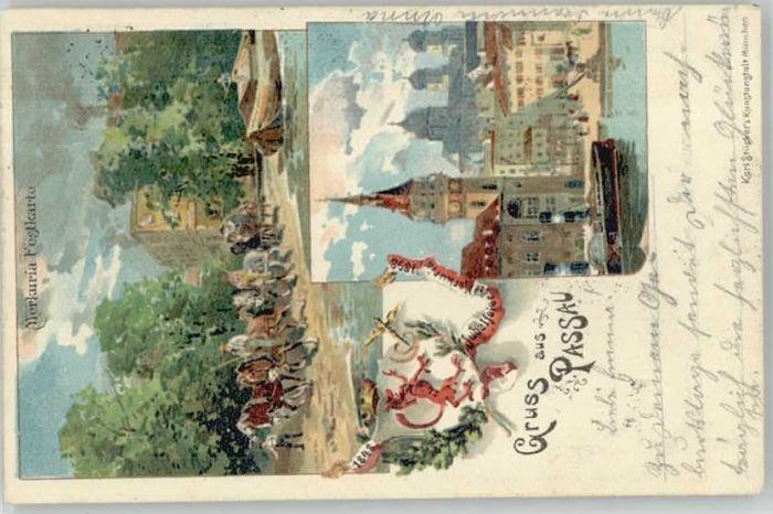 Passau Merkuria Festkarte x 1900