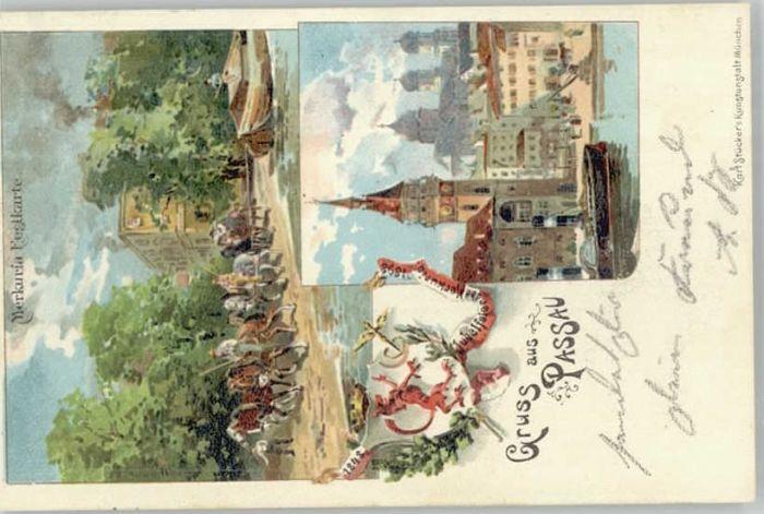 Passau Merkuria Festkarte x 1898