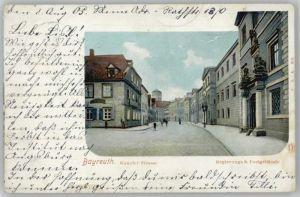 Bayreuth Bayreuth Kanzlei-Strasse Regierungsgebaeude Postgebaeude x / Bayreuth /Bayreuth LKR