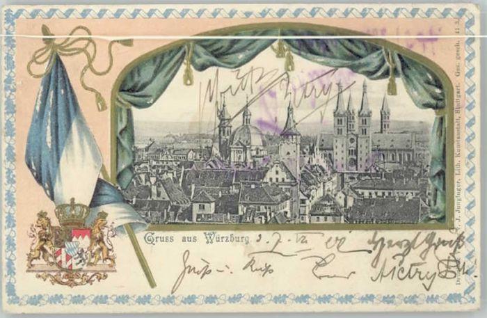 Wuerzburg Wappen Fahne x