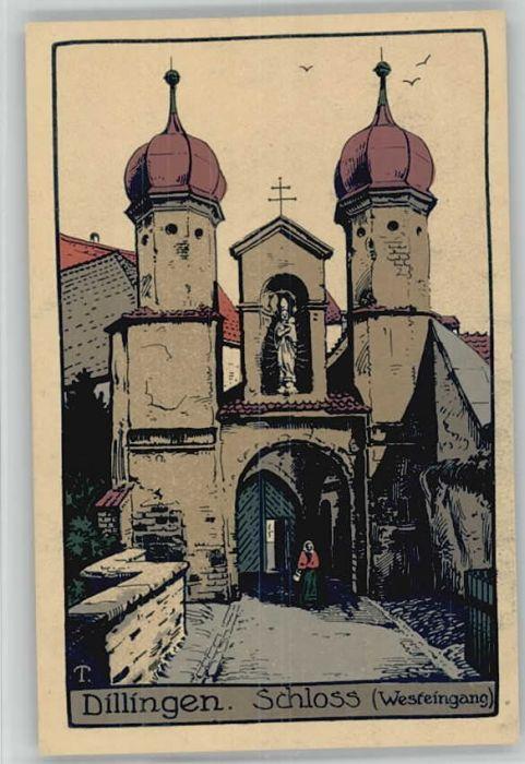 Dillingen Donau Dillingen Donau Schloss Kuenstlerkarte * / Dillingen a.d.Donau /Dillingen Donau LKR