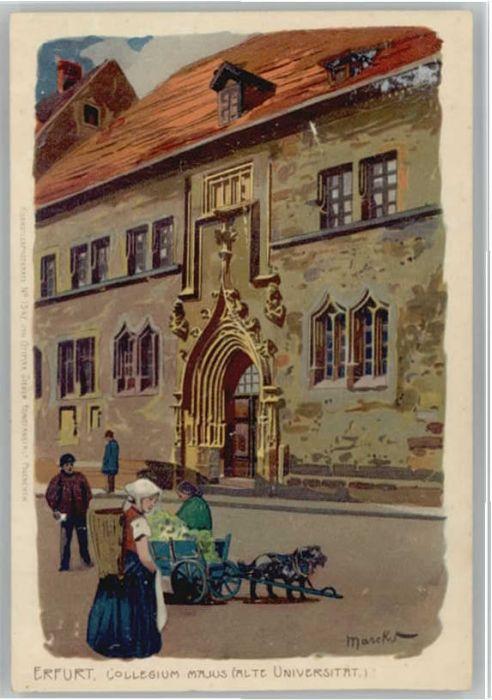 Erfurt Kollegium Majus Universitaet Kuenstler Marcks *