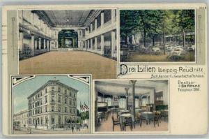Leipzig Reudnitz Gesellschaftshaus Drei Lilien x