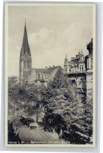 Herne Westfalen Herne Bahnhofstrasse Kirche * / Herne /Herne Stadtkreis