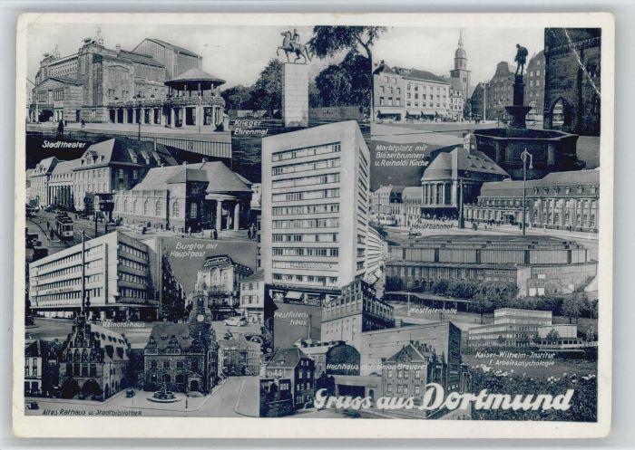 Dortmund Stadttheater Kriegerehrenmal Westfalenhaus Kaiser Wilhelm Institut x