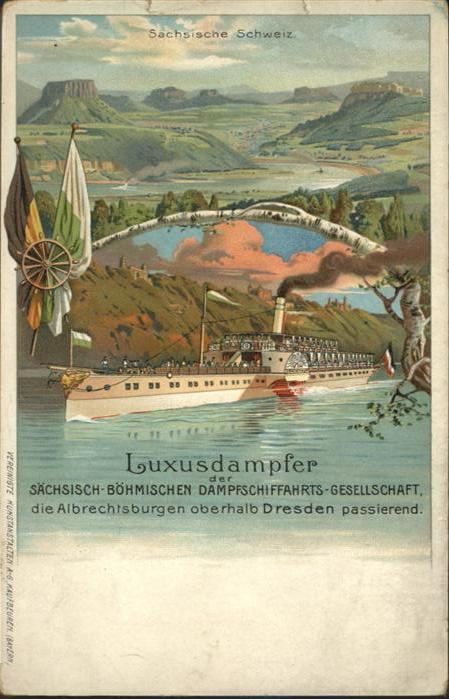 Dresden Luxusdampfer Albrechtsburgen *