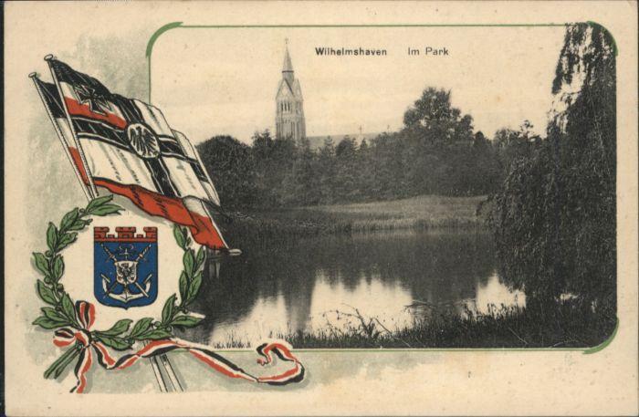 Wilhelmshaven Fahne Wappen Park x