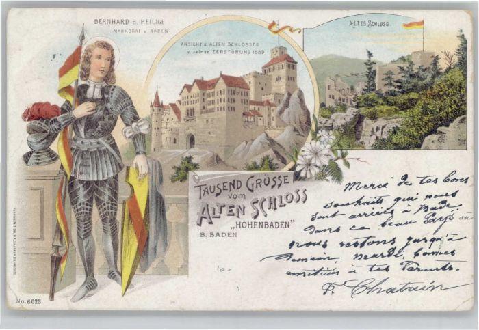 Baden-Baden Baden-Baden Schloss Hohenbaden Bernhard der Heilige x / Baden-Baden /Baden-Baden Stadtkreis