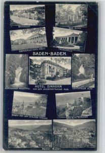 Baden-Baden Bahnhof Conversations Haus Hotel Einhorn x