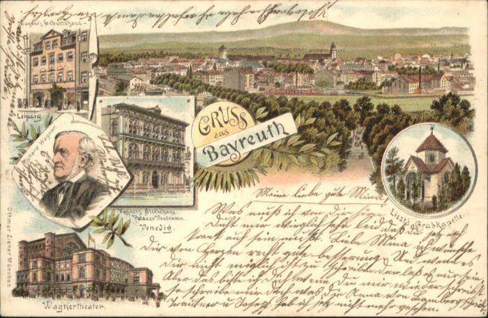 Bayreuth Richard Wagner Wagnertheater Liszt Grabkapelle x