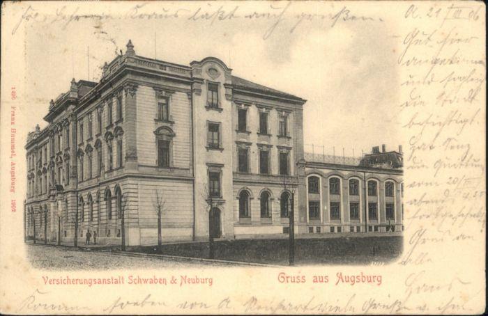 Augsburg Versicherungsanstalt Schwaben & Neuburg x