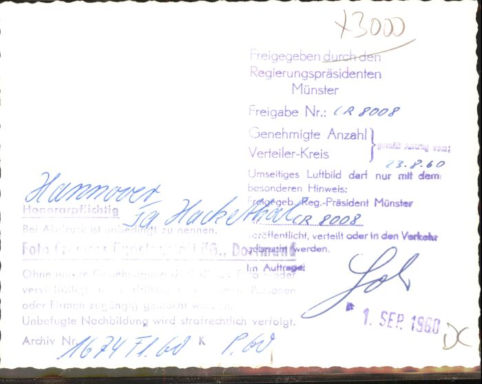 Hannover Fliegeraufnahme Firma Hackethal Nr Wx39461 Oldthing