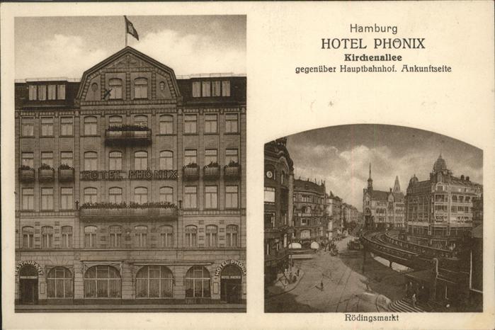 Hamburg Hotel Phoenix Kirchenallee Roedingsmarkt