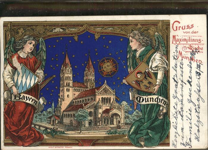Muenchen Maximilians Kirche