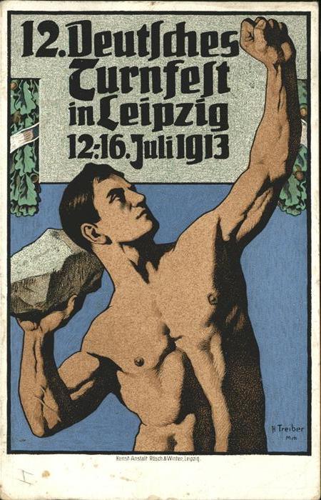 Leipzig Turnfest 12. - 16. Juli 1913 Kat. Leipzig