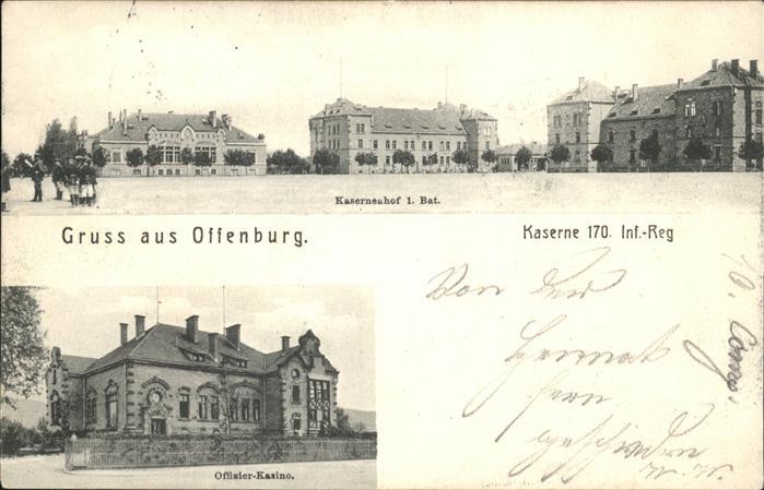 Offenburg Kaserne Inf reg 170 Kat. Offenburg