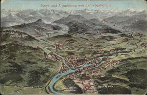 Steyr Enns Oberoesterreich Panorama / Steyr /Steyr-Kirchdorf