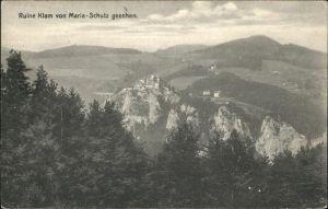 Schottwien Ruine Klam / Schottwien /Niederoesterreich-Sued