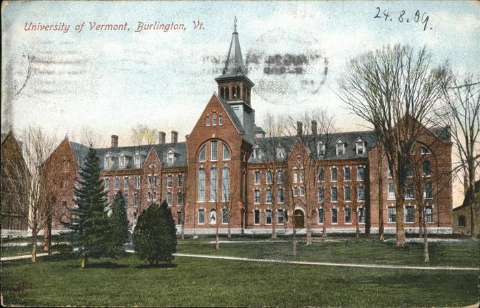 Burlington Vermont University of Vermont Kat. Burlington