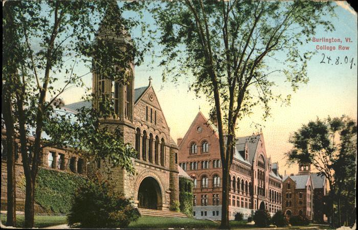 Burlington Vermont College row Kat. Burlington