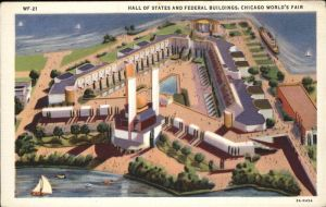 Chicago Hall of States and Federal Buildings Chicago`s World Fair Kat. Chicago