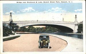 Newark New Jersey Bridge over Boulevard Branch Brook Park Kat. Newark